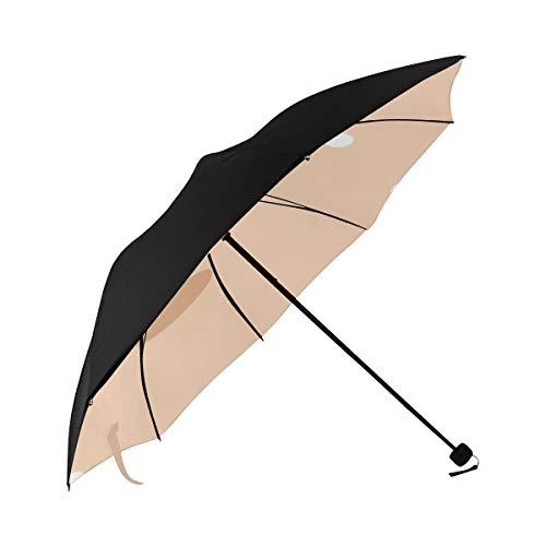 Umbrella Cute Yoga Frenchie Peaceful Meditation Posture Underside Printing Compact Travel Sun Umbrella Parasol Anti Uv Foldable Umbrellas With 95% Uv Protection For Women Men Lady Girl