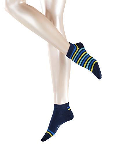 ESPRIT Damen  Multi Stripe 2er Pack - Baumwollmischung Matt Fein Baumwollmischung,  2 Paar,  Blau (Marine 6120),  Größe: 39-42