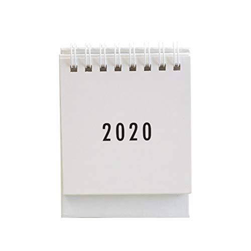 NUOBESTY Mini Tischkalender 1 Stück 2020 für Tagesplaner (schwarz) 7.5 * 9,5 centimetri weiß