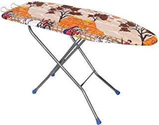 Servomate Large Foldable Ironing Board with Wooden Ironing Surface (Multiple Color) 18 Inch