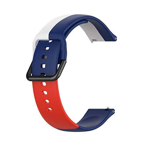 spier Correa de silicona de repuesto universal para reloj, resistente al sudor, 22 mm, compatible con la mayoría de los relojes.
