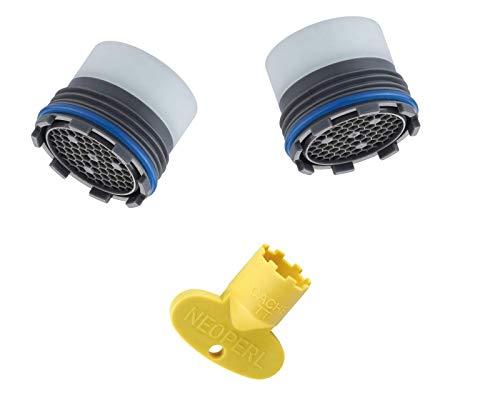Kit de dos piezas aireador + llave para grifo oculta, 16 x 1 m, filtro (paquete de 3 unidades)