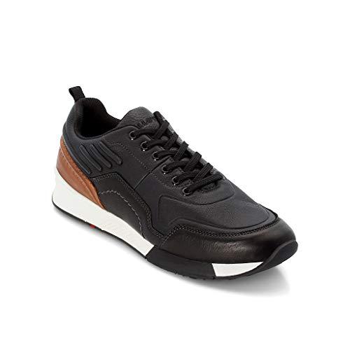LLOYD Herren Low-Top Sneaker Edson, Männer Sneaker,Halbschuh,Schnürschuh,Strassenschuh,Business,Freizeit,Black/New Nature,8 UK / 42 EU