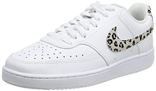 Nike Wmns Court Vision Low, Zapatillas de bsquetbol Mujer, White Desert Sand Black, 38 EU