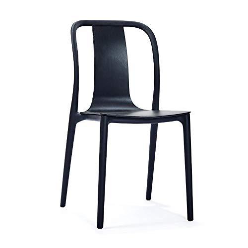 Fundas para sillas de comedor con respaldo alto, con reposabrazos y respaldo Asiento tapizado, silla de comedor informal minimalista moderna americana, para desayunador, mostrador, cocina y taburetes de bar para el hogar, color negro