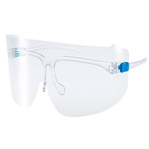 山本光学 YAMAMOTO スタンダードモデル YF-800 S くもり止め加工 超軽量 医療用 フェイスシールド グラス 本体セット(フレーム1本+レンズ3枚入り) 眼鏡 / マスク併用可 日本製