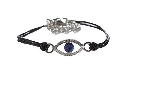 body-soul-n-spirit Bracelet 1Pulseras de cuerda Negro contra malocchio Cabala joyas para buena fortuna