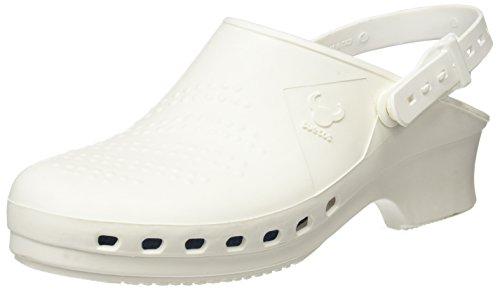 Suecos® Balder - Zueco autoclavable (esterilizable), Blanco Blanco (White), 38/39 EU