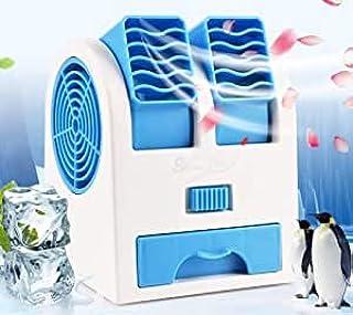 Aire Acondicionado Móvil, Climatizador Portátil, (Tuyere Ajustable) Mini Ventilador Enfriador, 3 en 1 Espacio Personal Enfriador de Aire Humidificador y Purificador, para Oficina/ Sala/ Viaje (Azul)
