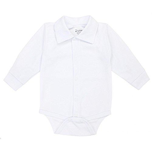 TupTam Baby Jungen Langarmbody mit Kragen, Farbe: Weiß, Größe: 68