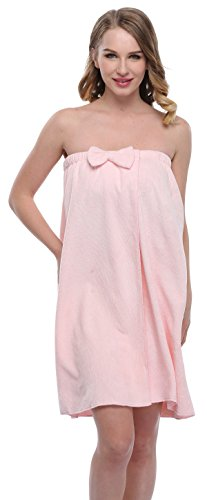 expressbuynow Spa Bath Towel Wrap for Ladies, 10 Colors, Pink