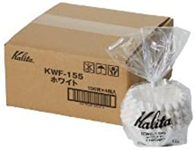 2 X Kalita: Wave Series Wave Filter 155 [1-2 persons] White, 100 sheets # 22213 (Japan Import)