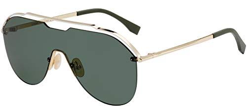FENDI FF M0030/S T4 Gafas, GOLD/GN GREEN, 99 Hombres