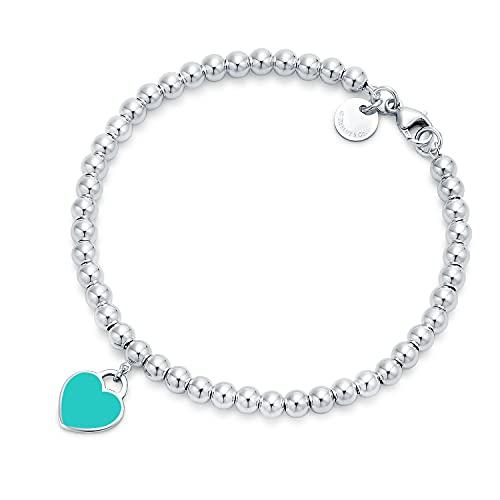 Return to TIFFANY&C0.Bracelets for women,Heart Tag Bead Bracelet in...