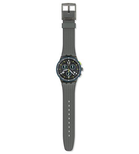 Swatch herenhorloge chronograaf kwarts horloge met siliconen armband SUSM407