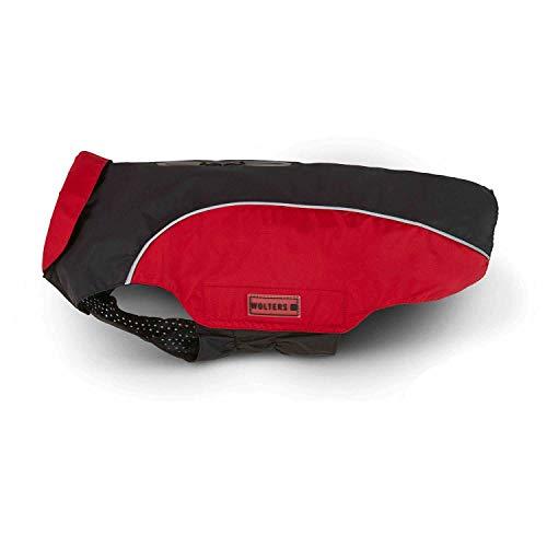 WOLTERS Regenjacke Easy Rain für Dackel versch. Größen und Farben, Größe:38 cm, Farbe:schwarz/rot