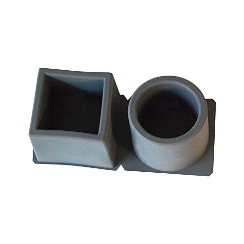 Cuadrado redondo en moldes de jardinera de hormigón diy en maceta de silicona de yeso para suculentos moldes de arcilla de cemento