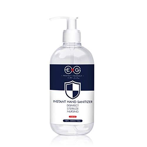 (2Pack×10.15 Fl Oz/300ML)EG Refreshing Hand Sanitizer Gel,Washless Hand Soap Gel, Super-Large Capacity Household Cleaning Gentle Hydrating Hand Sanitizer Soothing Gel,Non-irritating,Pump Bottle (300 M