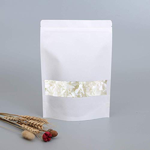 200g Premium Eco Soy Wax,Soy Wax Flakes,White, 100% Natural Soy Wax Flakes for Candle Making (Free 10pcs Candle Wicks)