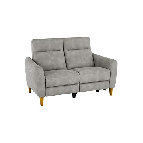Oak Furniture Land Dylan 2 Seater Electric Recliner Sofa in Oxford Grey Fabric