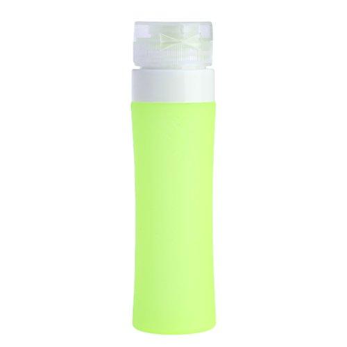 Lunji Flacon Vide Silicone - Flacons de Voyage 40ml pour Shampooing Gel Douche Huile Solaire Lotion (Vert)