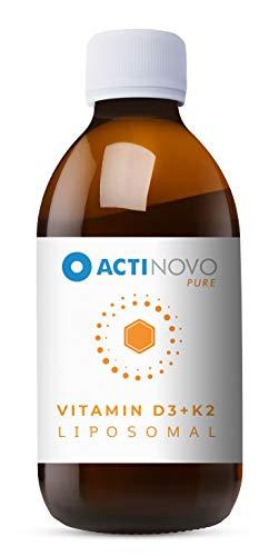 Liposomales Vitamin D3 + K2 | Sanddorn PURE 250ml | hochdosiert | für dein Immunsystem | Aktive Tagesdosis 1000 IU Vitamin D & 200 µg Vitamin K | hohe Bioverfügbarkeit | flüssig | ohne Zusätze