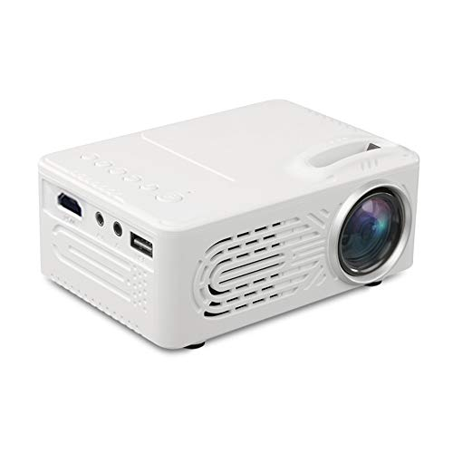 Support HD PROYECTOR Mini Micro PROYECTOR HD 1080 Portátil Full HD 1080P Compatible con USB HD SD AV VGA para el Cine en casa with Projection Function (Color : White, Size : 123 * 86 * 56mm)