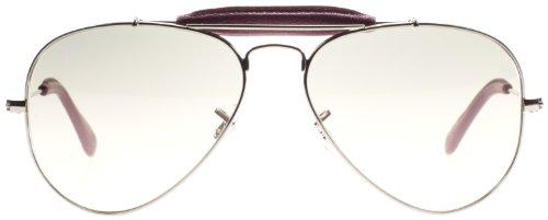 Ray-Ban RB3422Q1103255 Gafas, Plateado/Granate, 55 U E Unisex Adulto