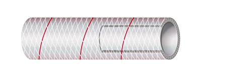 Sierra International All Clear PVC Tubing Polyester Reinforced RED-Tracer 1-1/2