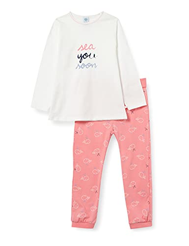 Sanetta Mädchen lang beige Baby- und Kleinkind-Schlafanzüge, White Pebble, 104