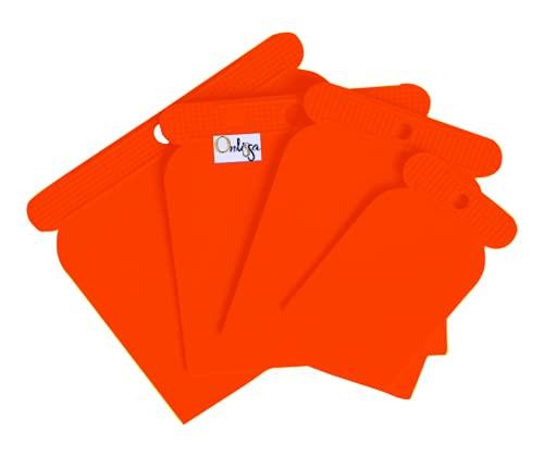 Espatulas Carrocero Plastico para Masilla, 4 piezas (50, 80, 100, y 120 mm)