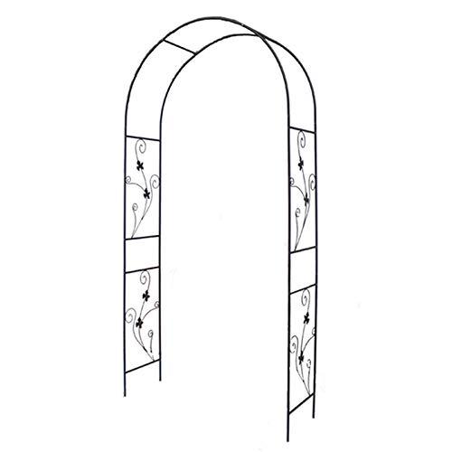 Garden Arch, Outdoor Garden Arbor Powder Coated Black Verdigris Finish, Decorative Lightweight Arch for Various Climbing Plants