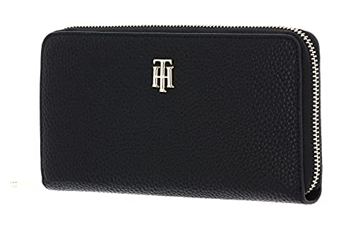 TOMMY HILFIGER TH Essence Large Zip Around Wallet Black