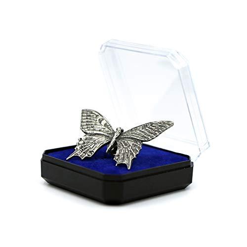 Schmetterling Die Stecknadel aus Zinn am Revers Die Brosche das Abzeichen das Accessoires für die Liebhaber der Tiere Jagd und Angeln Geschenk für Männer und Frauen-Baterfly Lapel Pin Brooch Badge