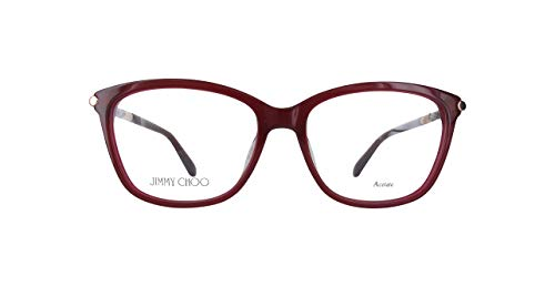 JIMMY CHOO JC133 Jimmy Choo Brillengestelle Jc133-J5N-53 Damen Rechteckig Brillengestelle 53, Rot