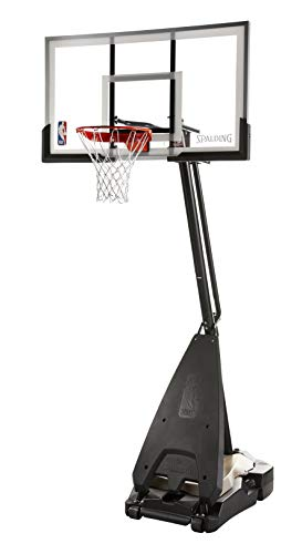 "Spalding 60"" Acrylic NBA Ultimate Hybrid Portable Basketball Hoop"