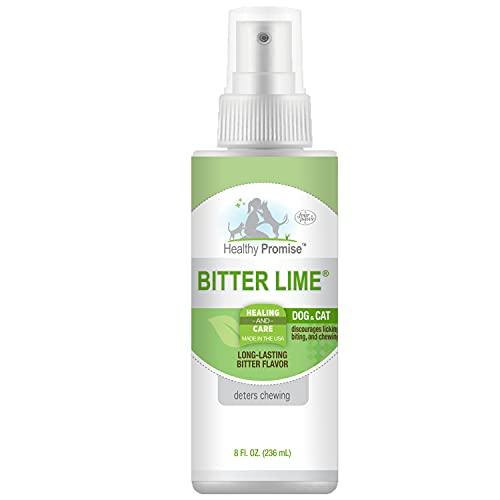 Four Paws Healthy Promise Bitter Lime Anti Chew Spray for Dogs and Cats Bitter Lime Flavor 8 Ounces