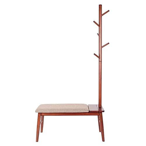 Kledingstandaard Coat Rack Home Floor Stand Hoedenstandaard ophangsysteem katoenen kussen anti-slip mat massief houten frame 2 kleuren Colorshangers opslag (kleur: B Maat: 905x360x1800mm) 90 x 360 x 1800 mm-b