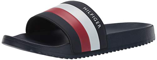 Tommy Hilfiger Men's Rozi Slide Sandal, Navy, 11