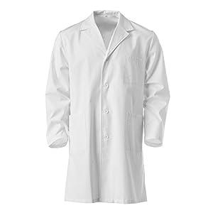 Guardapolvo blanco, talla 10a 16años, 100% algodón, para laboratorio escolar