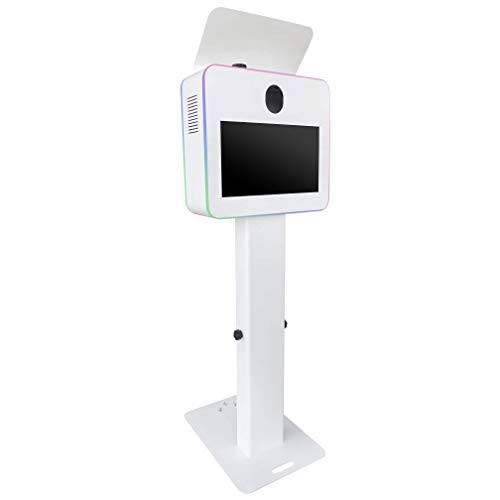 """Glamify Photo Booth Shell Only, Fits 19"""" Touch Screen Monitor - White"""