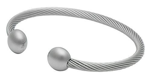 "QRAY Professional Hi-Gauss Magnets Surgical Steel Golf Athletic Bracelet Men Women C-Shaped Health Wellness Bracelet (Medium: 7""~7.75"")"