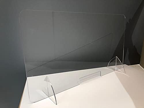 IRONLUX Mampara Ciega Policarbonato Transparente de 5mm de Espesor, Altura 70cm (Policarbonato, 95x70cm)