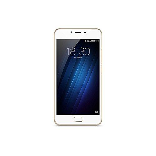Meizu M3S - Smartphone libre Android (4G, pantalla 5', 16 GB, 2 GB RAM, cámara 13 Mp), color dorado