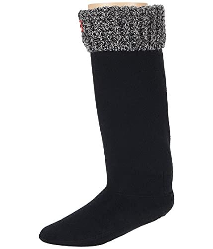 Hunter Calcetines originales para botas de gofres - Alto, Negro / Gris, Large