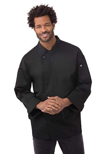 Chef Works NEW YORKER Cool Vent Executive Chef, Mantel, schwarz, BLDF-BLK-2XL