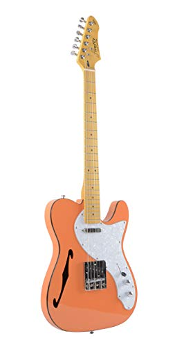Firefly FFTH Semi-Hollow body Guitar Orange color.