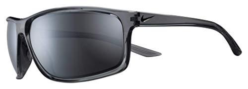 Nike EV1112-013 Adrenaline Gafas de sol de cristal brillante gris frío/negro, color gris con espejo plateado tinte lente