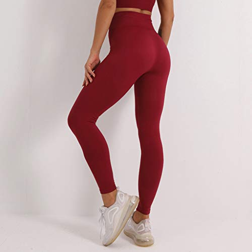 GUILAN Sports sans Soudure Pantalon de Remise en Forme Pêche Hip Pêche Stretch Sèche-Cheveux Pantalon de Yoga High Taille Anti-Cellulite Serrer Fesses Lifting Leggings Pantalon de Yoga