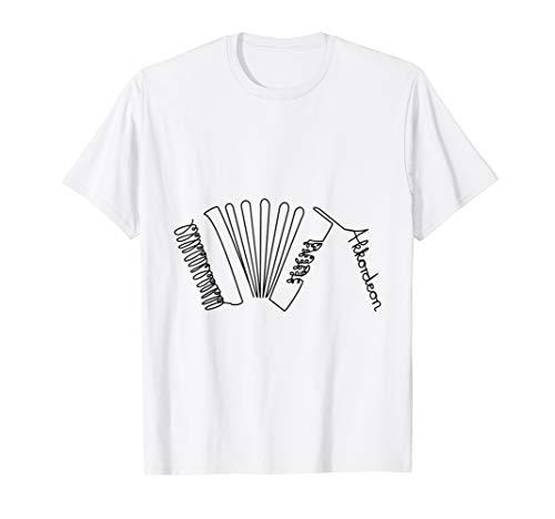 Akkordeon One-Line Musiker Design Handharmonika T-Shirt